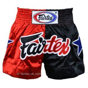 Fairtex BS85 Classic Muay Thai Shorts in Red Black