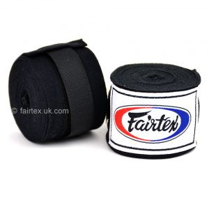 Fairtex Hand Wraps 4.5M Black HW2 Stretch