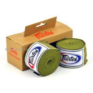 Fairtex Hand Wraps 4.5M Olive Green HW2 Stretch