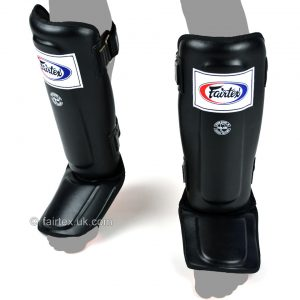 Fairtex Shin Guards Double Padded in Black