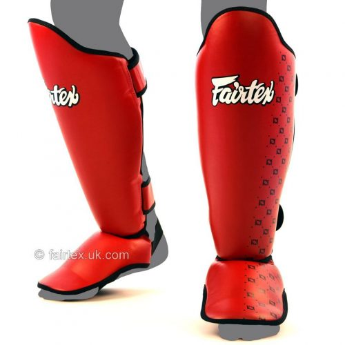 Fairtex Shin Guards SP5 in Red