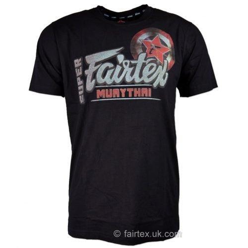 Fairtex T-Shirt Black Super Muay Thai TST106