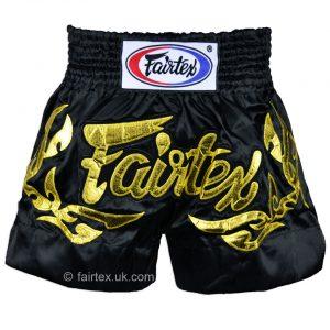 Fairtex Muay Thai Shorts Eternal in Gold Black