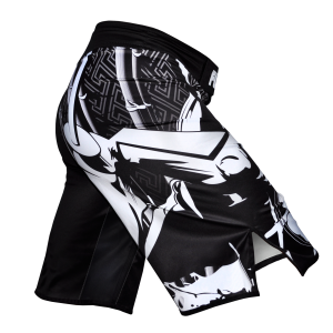 Fuji Musashi Fight Board Shorts Black White