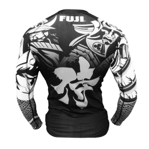 Fuji Musashi Rash Guard Black White
