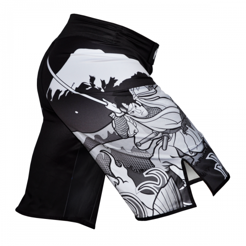 Fuji Sakana Fight Board Shorts Black White