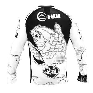 Fuji Sakana Rash Guard Black White