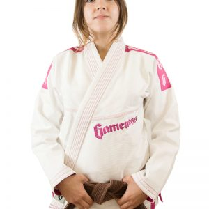 Gameness Pearl Ladies BJJ Gi White Pink