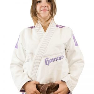 Gameness Pearl Ladies BJJ Gi White Violet