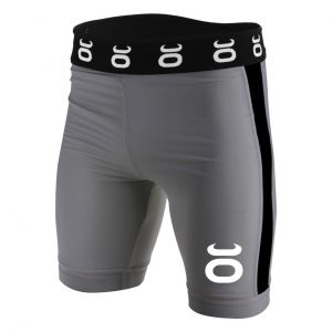 Tenacity Jaco Vale Tudo Compression Long Fight Shorts Grey