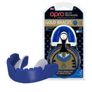 OPRO Adult Gold Level Braces Mouth Guard Blue