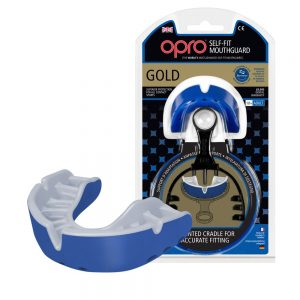 OPRO Gold Self Fit Mouth Guard Blue Pearl