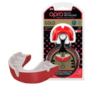 OPRO Gold Level Self Fit Mouth Guard Red Pearl