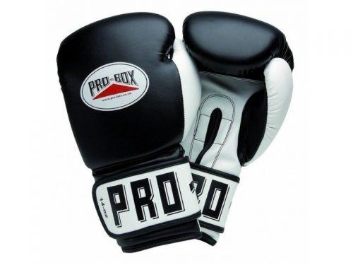 Pro Box PU Club Essentials Boxing Gloves Black