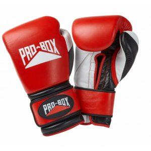 Pro Box Pro-Spar Leather Sparring Gloves Red