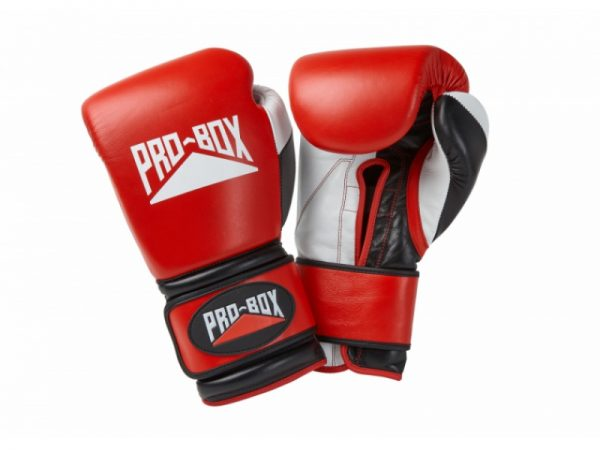 Pro Box Pro-Spar Leather Sparring Gloves Red