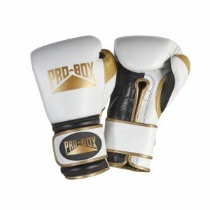 Pro Box Special Edition Pro-Spar Leather Boxing Gloves White Gold