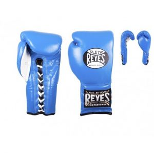 Cleto Reyes Traditional Lace Up Boxing Training Gloves Blue