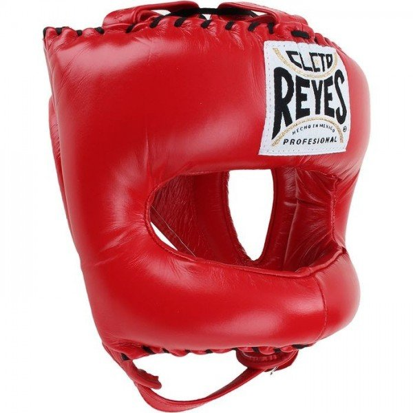Cleto Reyes Boxing Headgear Traditional Pointy Nylon Face Bar Red