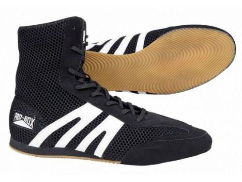 Pro Box Boxing Boots Shoes Junior Black White