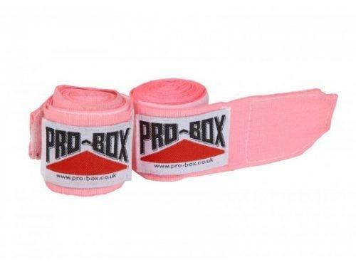Pro Box Senior AIBA Spec Stretch Hand Wraps Pink