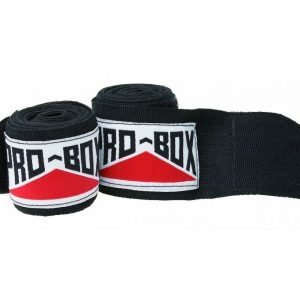 Image of Pro Box Senior AIBA Spec Stretch Hand Wraps Black