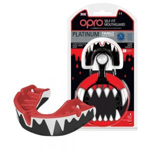OPRO Platinum Self Fit Fangz Mouth Guard
