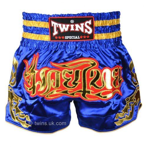 Twins Muay Thai Shorts TWS-152 Blue Gold