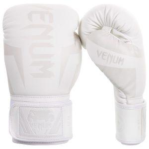 Venum Elite Boxing Gloves in White