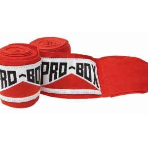 Image of Pro Box Senior AIBA Spec Stretch Hand Wraps Red