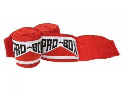 Image of Pro Box Senior AIBA Spec Stretch Hand Wraps Red