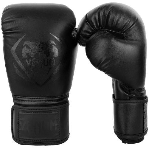 Venum Contender Boxing Gloves Black on Black