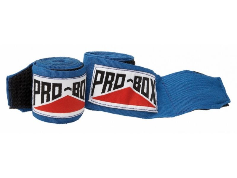 Light Blue Pro Box Boxing Hand Wraps AIBA Stretch Protection
