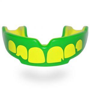 SafeJawz Extro Series Self-Fit 'Ogre' Mouth Guard Green Yellow