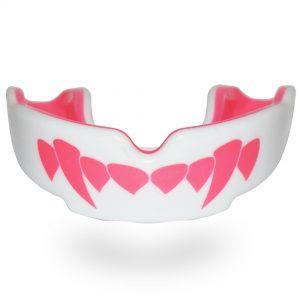 SafeJawz Pink Fangz Extro Series Self-Fit Mouth Guard