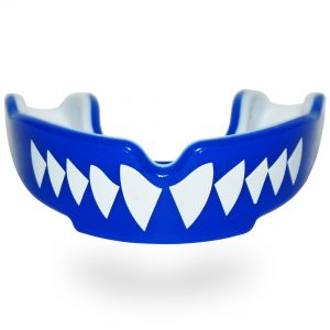 Safejawz Extro Series Self-Fit Shark Mouth Guard Blue White