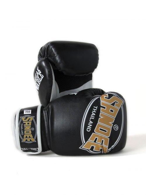 Sandee Kids Cool-Tec Boxing Gloves Black Gold