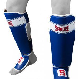 Sandee Sport Shin Guards Blue White