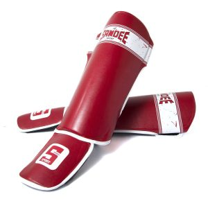 Sandee Sport Shin Guards Red White