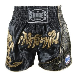 Sandee Unbreakable Thai Shorts Black Gold
