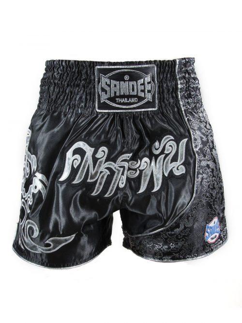 Sandee Unbreakable Thai Shorts Black Silver