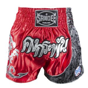 Sandee Unbreakable Thai Shorts Red Black White