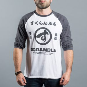 Scramble Brush Logo Raglan Tee White
