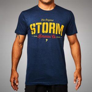de289c8178 Storm Kimonos Stencil T-Shirt Navy