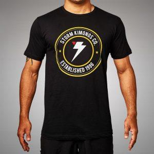 Storm Kimonos Badge T-Shirt Black