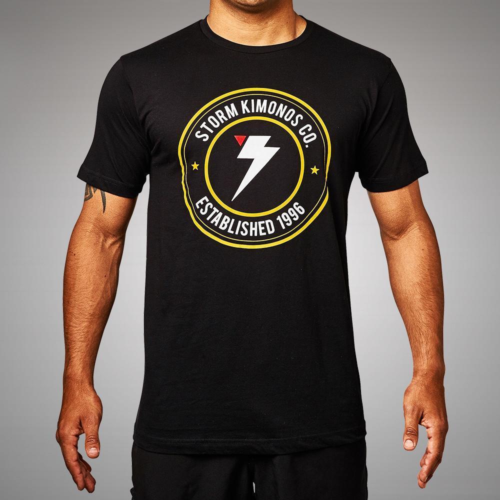 Storm Kimonos Badge T-Shirt Black   Minotaur Fight Store