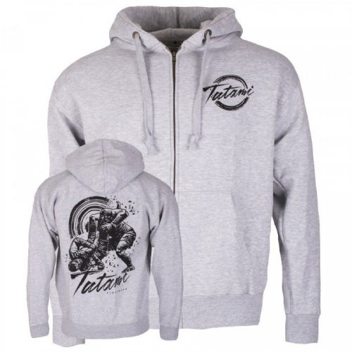 Tatami Grapplers Collective Triangle Zip Up Hoodie Grey