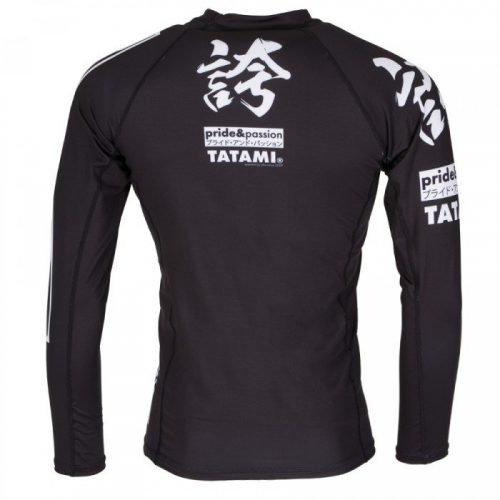 Tatami Hokori Long Sleeve Rash Guard Black