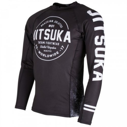 Tatami Jitsuka Long Sleeve Rash Guard Black