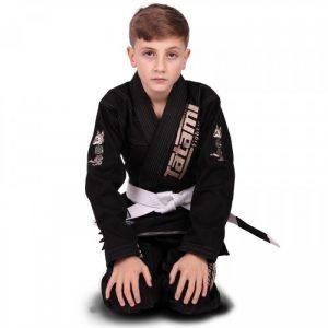 Tatami Meerkatsu Kids Animal BJJ Gi Black - Free White Belt